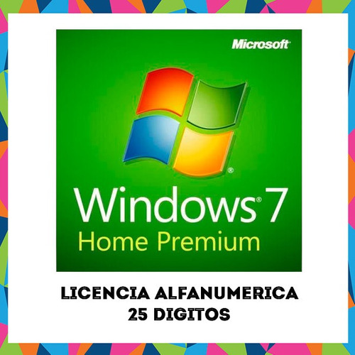 windows 7 home premium original alfanumerica mas regalo
