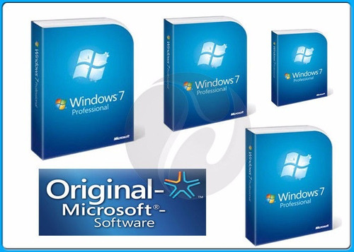 windows 7 pro original 32/64 bits key licencia - 3pc