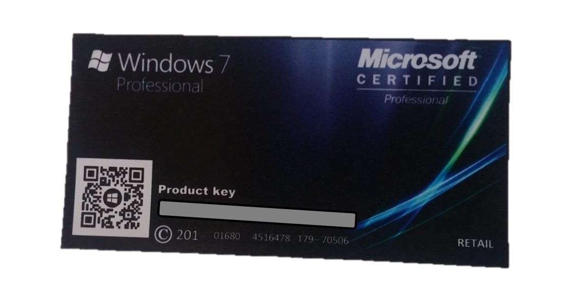 windows 7 pro professional fpp licen a original nota. Black Bedroom Furniture Sets. Home Design Ideas