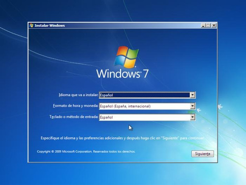 windows 7 (todas las versiones) en un dvd de instalación