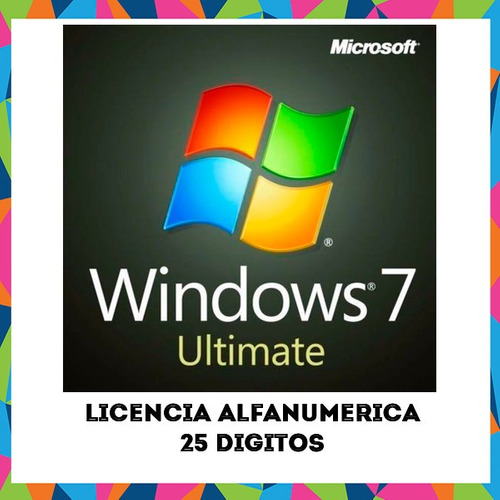 windows 7 ultimate original alfanumerica mas regalo