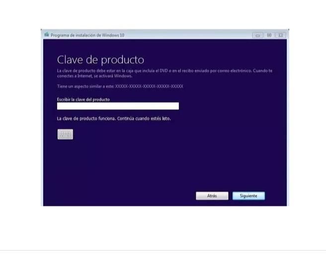 clave producto windows 10 pro 2018