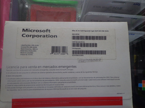 windows 8.1 pro 64 bits dvd oem sellado 01 pack  original es