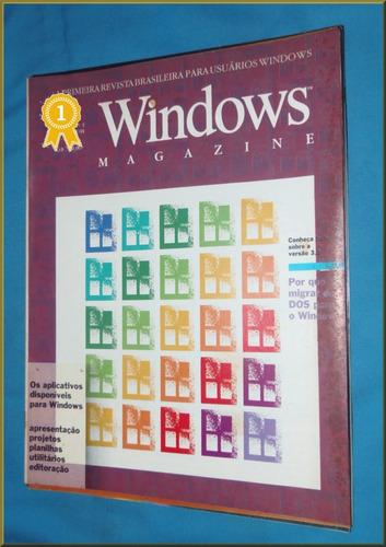 windows magazine - revistas números 1 ao 5  - relíquias