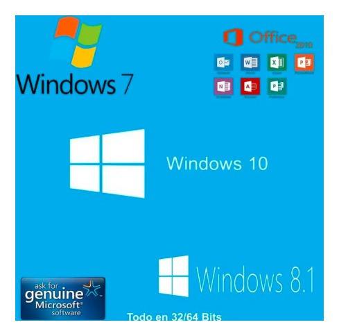 windows y office usb de 8gb