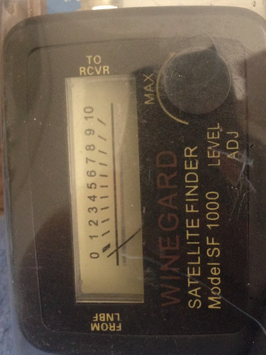 winegard satellite finder meter receptor de satelite (parabo