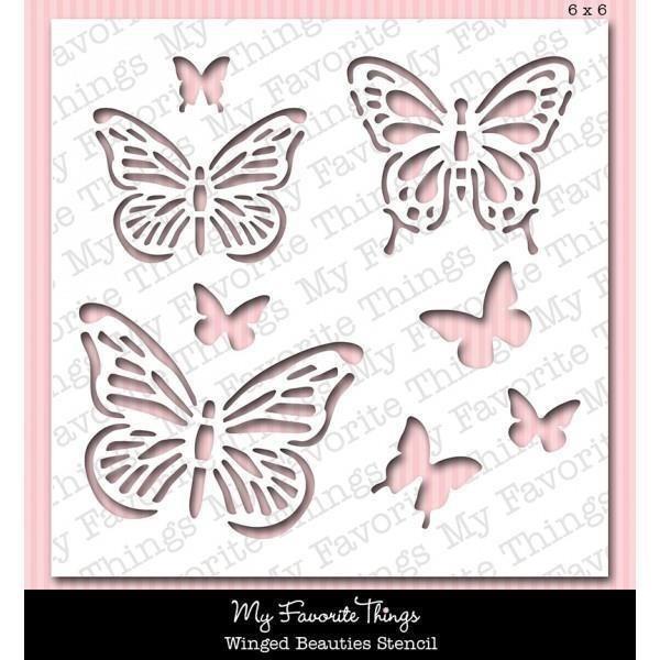 Winged Beauties Stencil Plantilla De Mariposa 14732 En