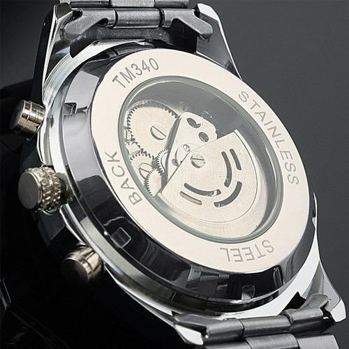 winner 340 reloj hombre  skeleton automatico mecanico