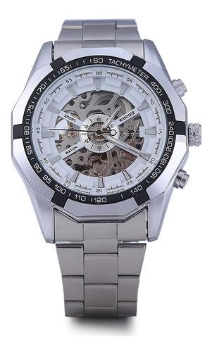 winner w340 - reloj mecánico automático para hombre (acero