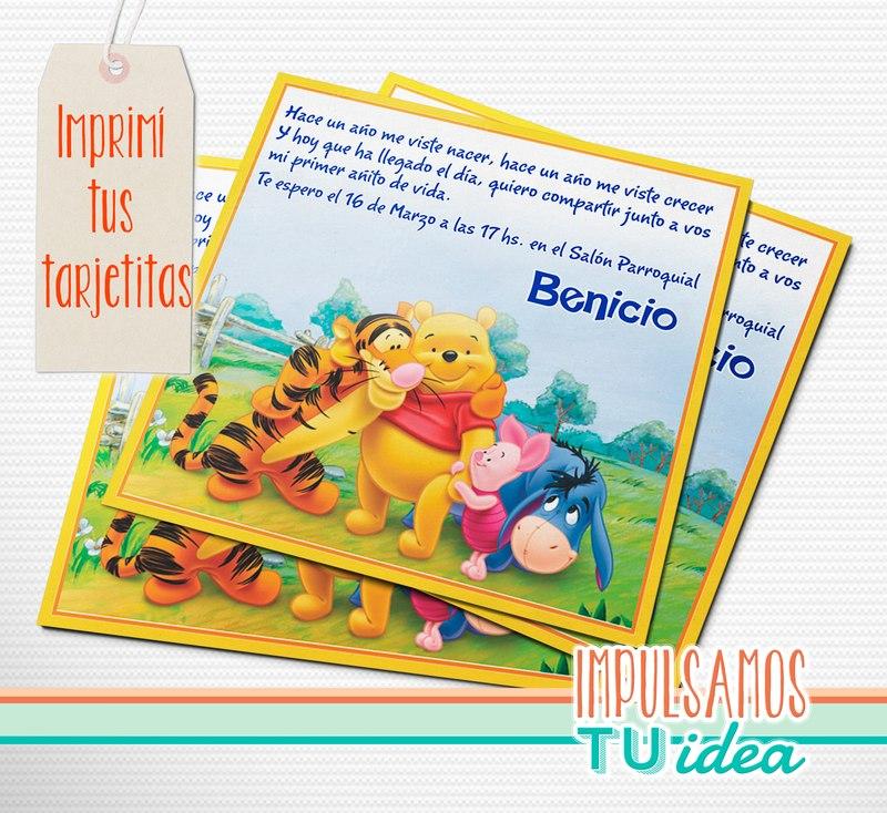 Winnie Pooh Invitación Para Imprimir