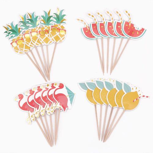 winrase pack de 24 flamenco lindo piña fruta de la sandía es