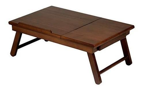 winsome madera 94623 bandeja de cama alden, walnut