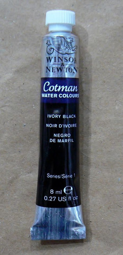 winsor & newton acuarela ivory black