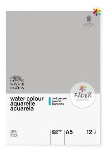 winsor & newton block clasic papel acuarela a5 grano fino