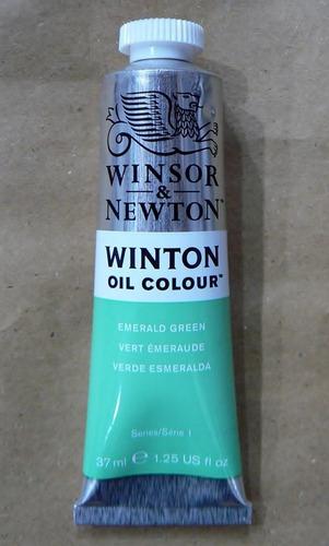 winsor & newton oleos emerald green 37ml