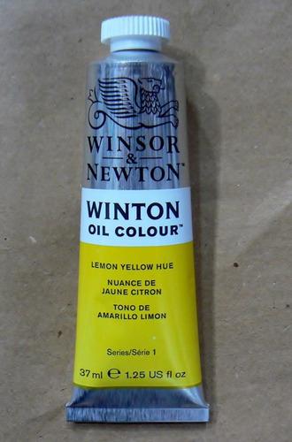 winsor & newton oleos lemon yellow hue 37ml