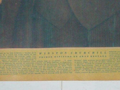 winston churchill 1945 gran bretaña poster lamina 50 x33 cm