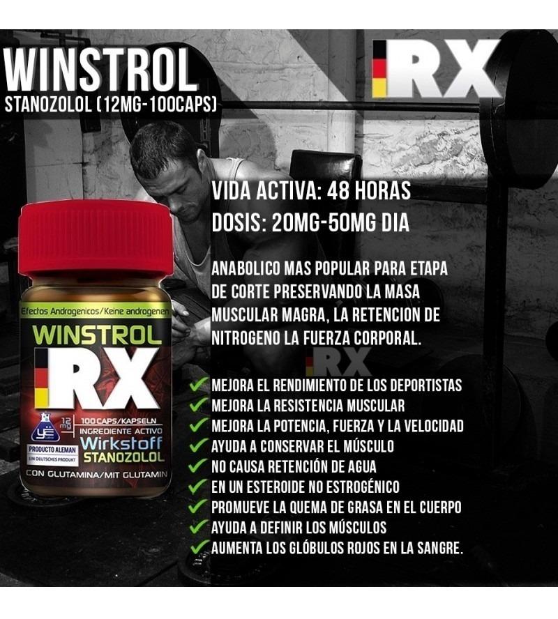 Winstrol X 100 Capsulas Rx Anabolic Crecimiento Muscular