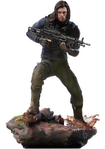 winter soldier - 1/10 bds - infinity war - iron studios