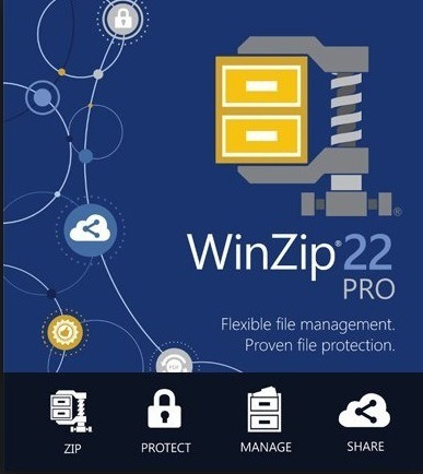 winzip® 22 pro 32/64 bits registrado