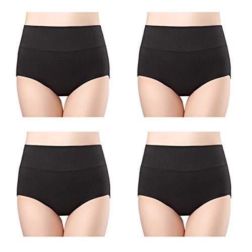 b4de78db9f6d Wirarpa Ropa Interior De Algodon Para Mujer 4 Paquetes Calzo