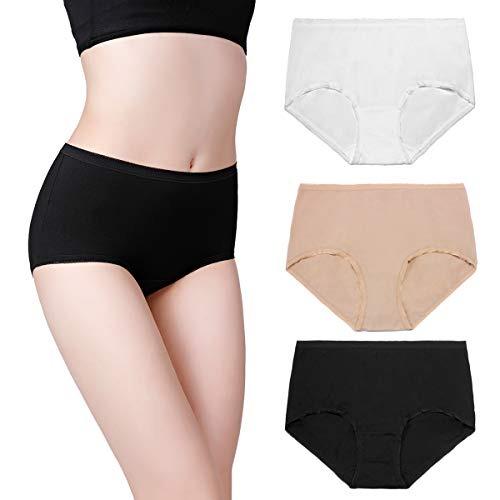 Últimas tendencias marca famosa verdadero negocio Wirarpa Ropa Interior De Algodon Para Mujeres 3 Pack Estiram