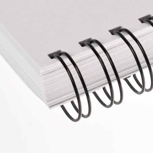 wire-o 5/8 pol. a4 preto - passo 2x1 | 23 anéis - 50un