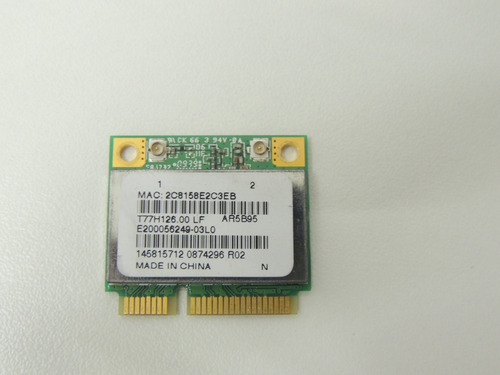 wireless atheros ar5b95 notebook sony vaio pcg 7182x usado