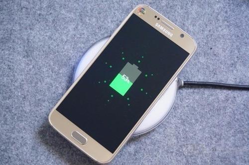 wireless carregador sem fio preto p/ nokia samsung s6 s7