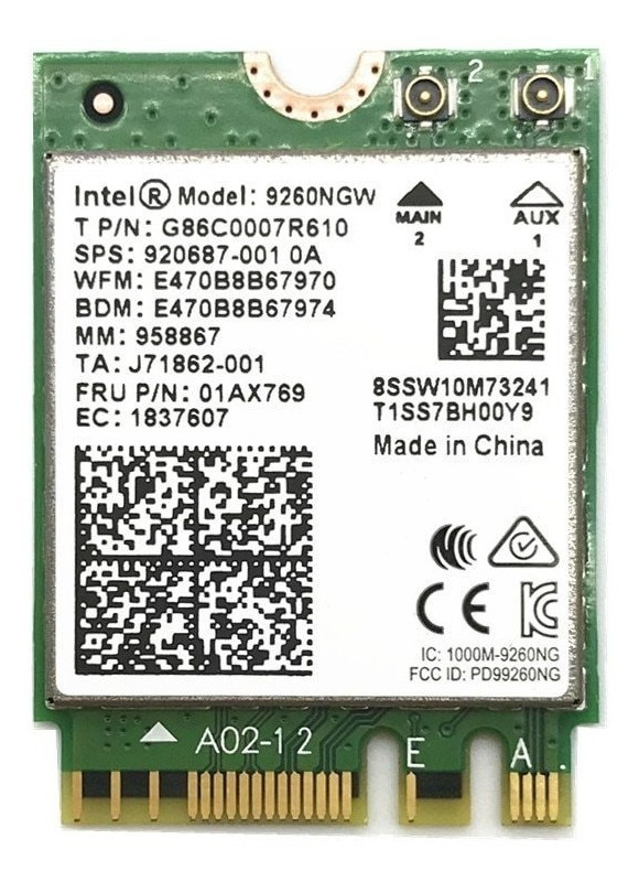 Wireless Intel 9260 Dual Band 1730Mbps Bluetooth5.0 WiFi Card 9260NGW 802.11ac