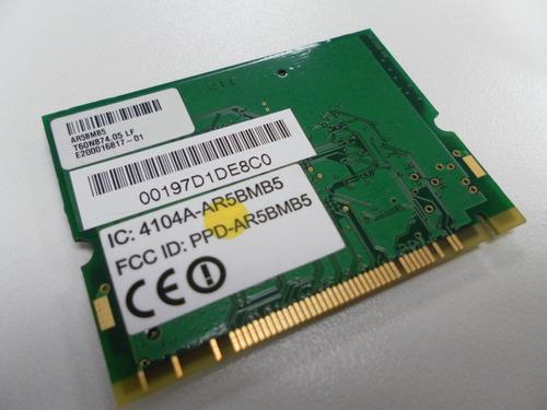wireless interno atheros para laptops antiguas mini pci card