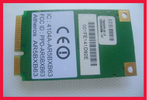wireless mini pci-e atheros ar5bxb63 p/ notebook