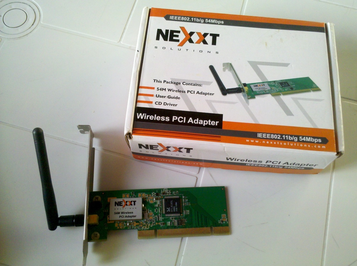 driver nexxt wireless g 54m pci adapter