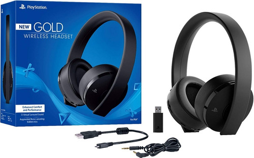 wireless stereo headset for playstation 4 gold