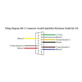 Wiring Diagram Db-15 Connector Game Port Joystick Quickshot