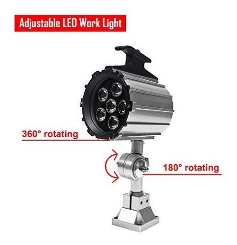 wisamic ajustable led luz de trabajo para maquina de torno,