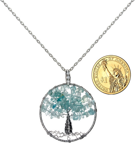 wish tree of life gemstone necklace mejor amigo jewelry for