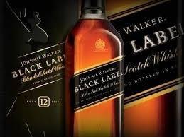 wisky johnnie walker etiqueta negra12 años (litro)  original