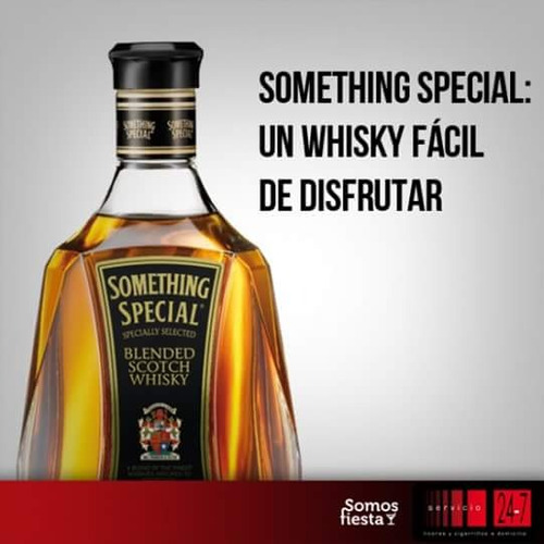 wisky something special 1 litro en el sector norte y sur