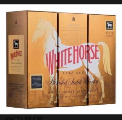 wisky white horse cavalo branco original com nota fiscal!