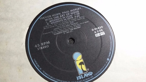 with the art of noise, moments in love lp vinilo electronica