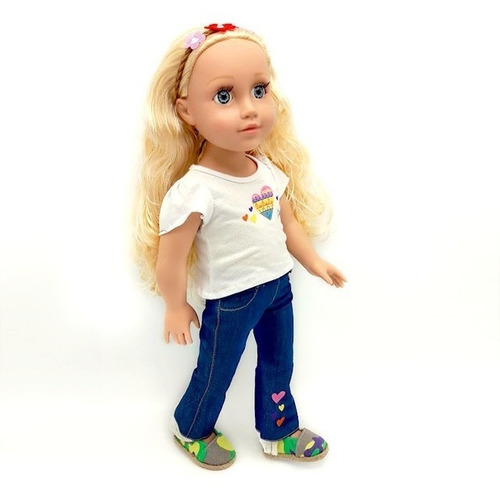 witty girls anna muñeca 45cm /18 pulg original american our