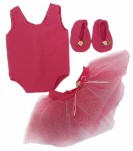 witty girls bailarina malla tutu ropa muñecas 45 cm/18 pulg