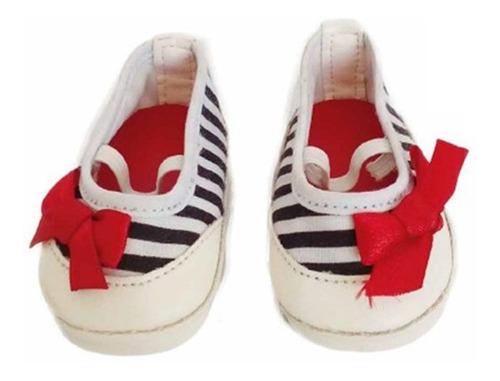 witty girls balerina rayada calzado muñecas 45 cm/18 pulg