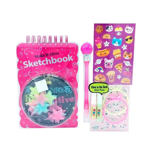 witty girls block dibujo sketchbook glow in dark 262 full