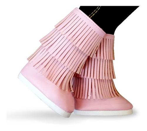 witty girls bota folk rosa calzado muñecas 45 cm/18 pulg