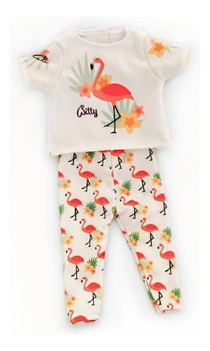 witty girls flamenco remera calza ropa muñecas 45 cm/18 pulg