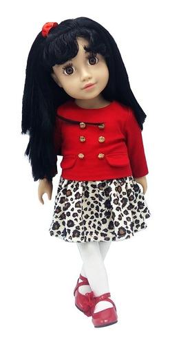 witty girls lucy muñeca 45cm /18 pulg original american pre