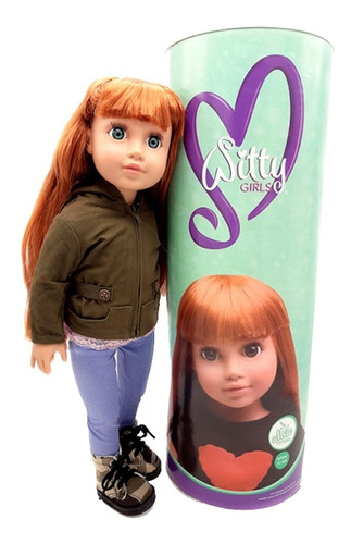 witty girls mila muñeca 45cm /18 pulg original american our