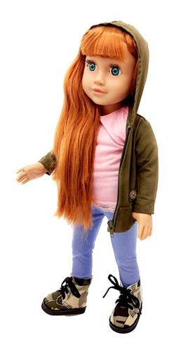 witty girls mila muñeca 45cm /18 pulg original american pre